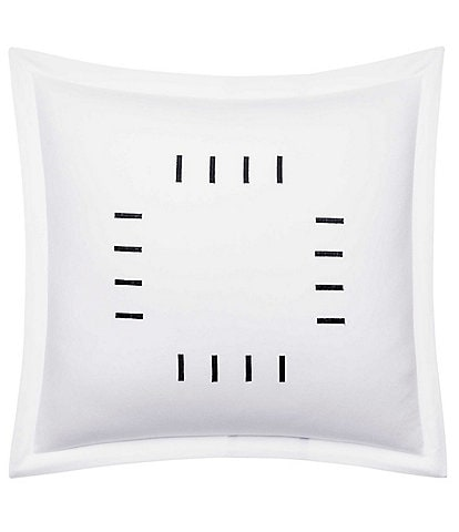 Vera Wang Zig Zag Square Embroidered Bars Accent Pillow