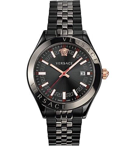 Versace Men's Hellenyium Black IP Bracelet Watch