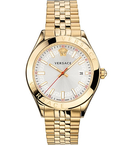 Versace Men's Hellenyium Gold Bracelet Watch