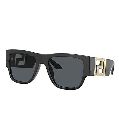 Versace Men's Rectangular 57mm Sunglasses