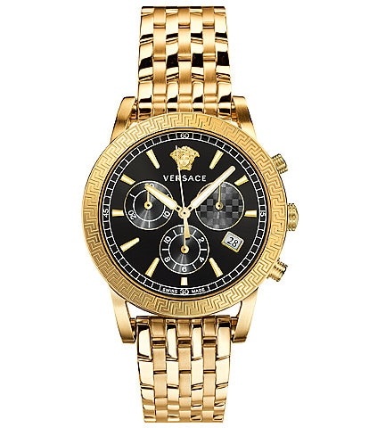 Versace Men's Sport Tech Chronograph Gold-Tone Stainless Steel Watch