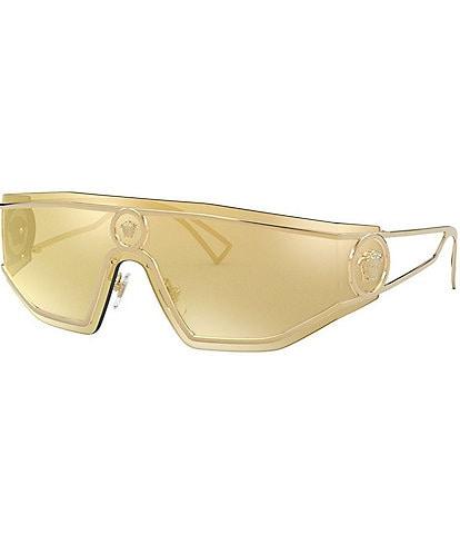 Versace Men's VE2226 Gold Mirrored Lens Sunglasses