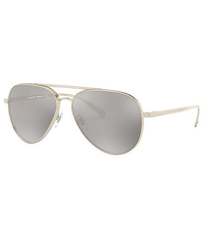 Versace Pop Chic Mirrored Lens Aviator Sunglasses