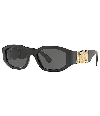 Versace Rectangular Slim Sunglasses