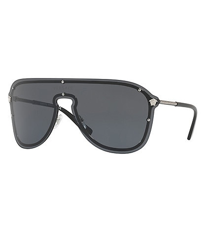 Versace Tubular Greek Pilot Sunglasses