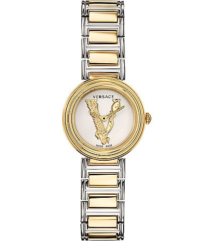 Versace Virtus Mini Two Tone Bracelet Watch