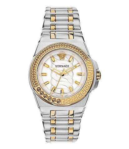 Versace Women's Chain Reaction Two Tone Bracelet Watch