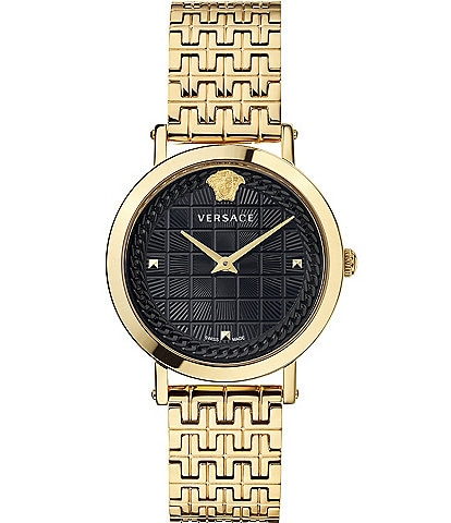 Versace Women's Coin Icon Gold Bracelet Watch