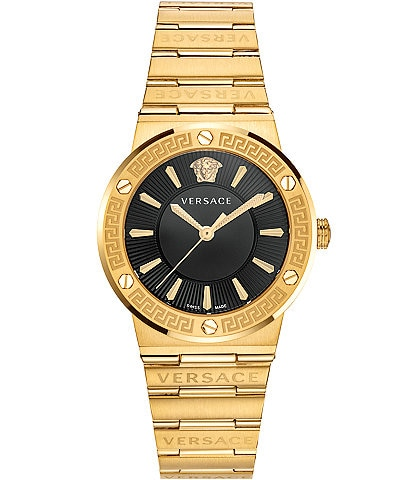 Versace Women's Greca Gold Link Watch