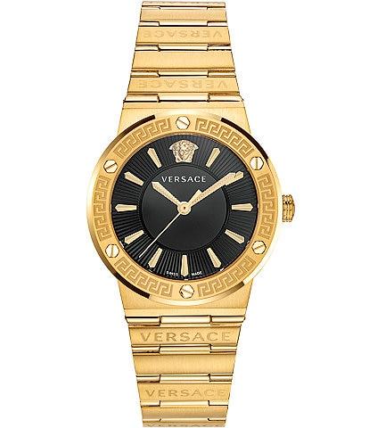 Versace Women's Greca Gold Link Watch