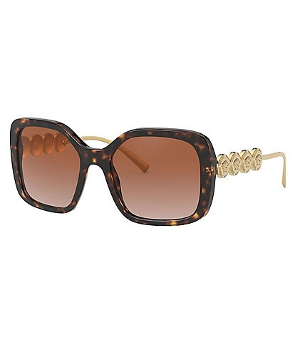 Versace Women's Square Havana 53mm Sunglasses