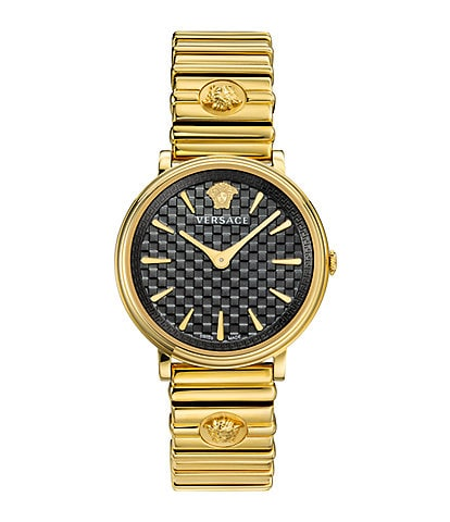 Versace Women's V-Circle Logomania Goldtone Bracelet Watch