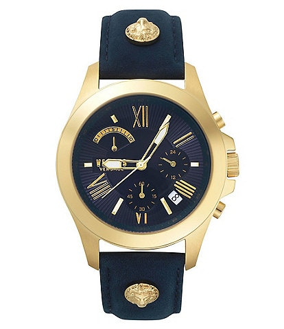 Versus by Versace Chronograph Lion Leather Watch