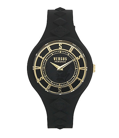 Versus By Versace Women's Fire Island Black Silicone Watch