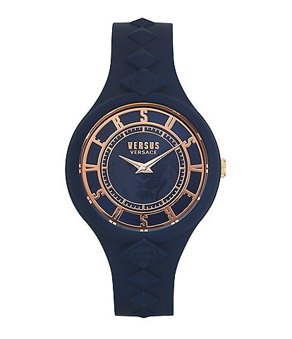 Versus by Versace Women's Fire Island Blue Silicone Watch