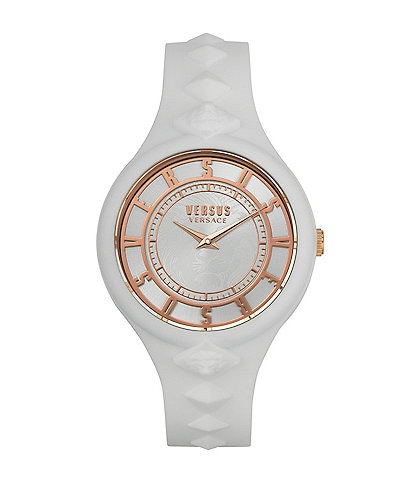 Versus by Versace Women's Fire Island White Silicone Watch