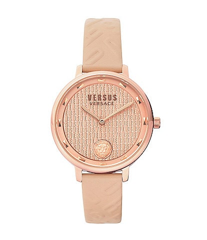 Versus by Versace Women's La Villette Pink Leather Watch