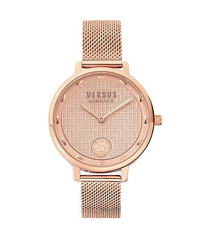 Versus by Versace Women's La Villette Rose Gold Mesh Bracelet Watch