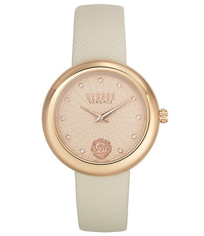Versus by Versace Women's Lea Beige Leather Watch