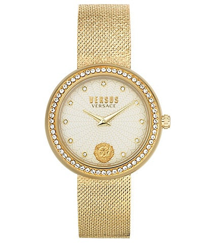 Versus by Versace Women's Lea Gold Mesh Bracelet Watch