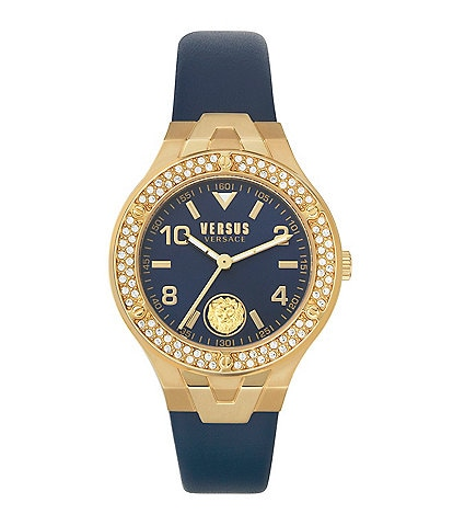 Versus by Versace Women's Vittoria Blue Leather Watch
