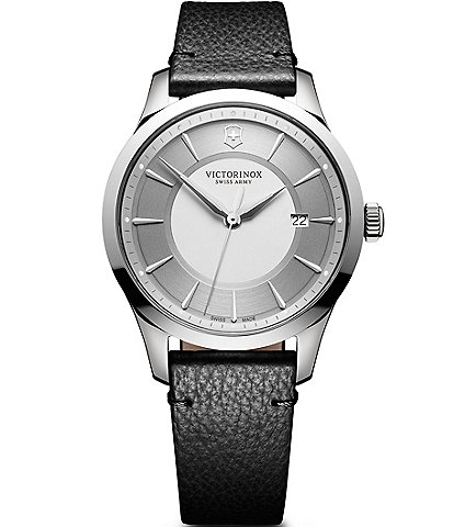 Victorinox Swiss Alliance Leather Strap Watch