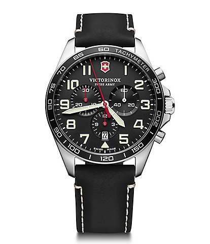 Victorinox Swiss Army Field Force Black Strap Chronograph Watch