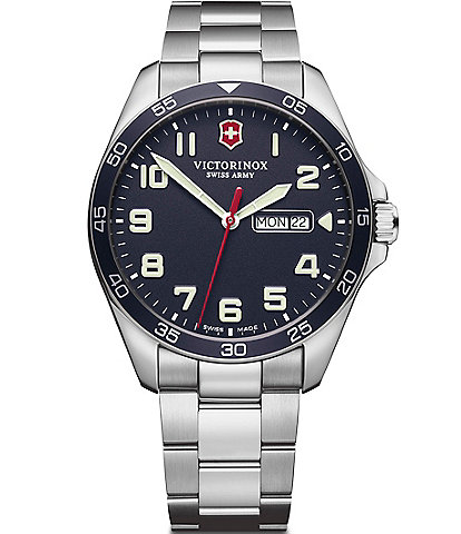Victorinox Swiss Army Field Force Stainless Steel Blue Dial Bracelet Watch