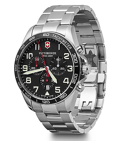 Victorinox Swiss Army Field Force Stainless Steel Chronograph Bracelet Watch
