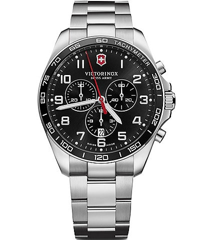 Victorinox Swiss Army Fieldforce Classic Chronograph Black Dial Watch