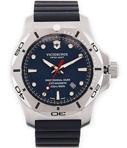 Victorinox Swiss Army I.N.O.X Professional Diver Analog & Date Rubber-Strap Watch