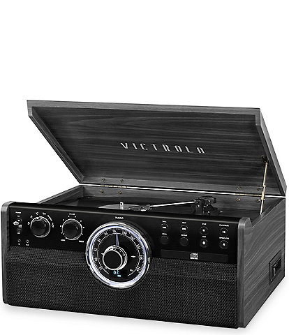 Victrola 6-in-1 Wood Empire Mid-Century Modern Bluetooth Record Player