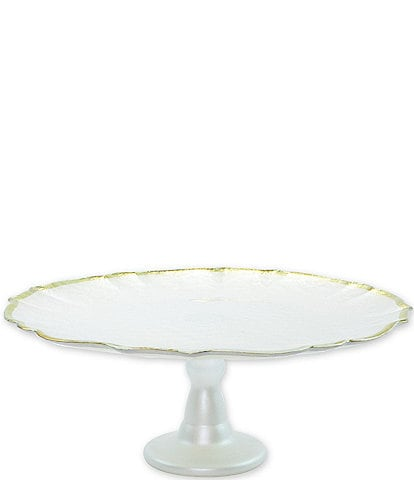 VIETRI Baroque Glass Cake Stand