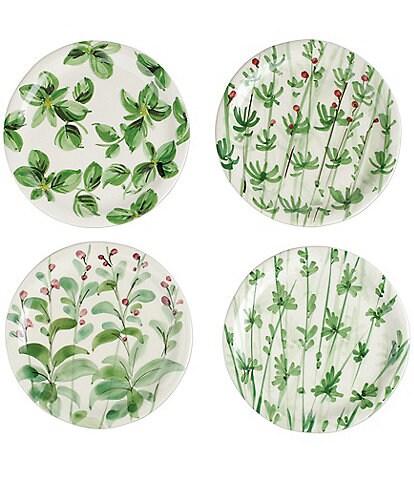 VIETRI Erbe Assorted Salad Plates, Set of 4