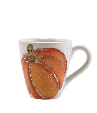 VIETRI Harvest Pumpkins Mug Orange Small Pumpkin