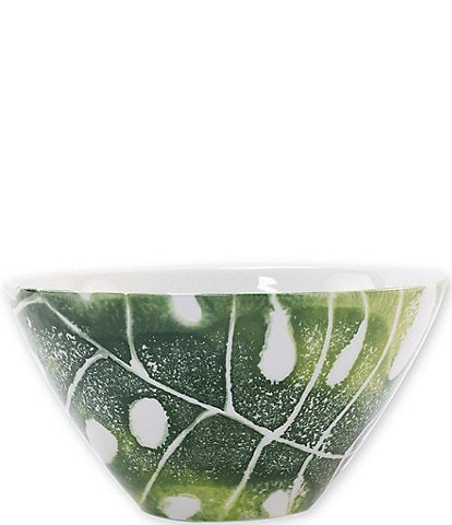 VIETRI Into the Jungle Monstera Leaf Cereal Bowl