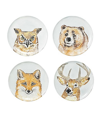 VIETRI Into the Woods Assosrted Salad Plates - Set of 4