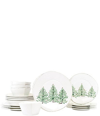 VIETRI Lastra Holiday 16-Piece Place Setting