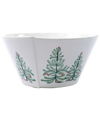 VIETRI Lastra Holiday Medium Stacking Serving Bowl