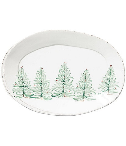 VIETRI Lastra Holiday Oval Platter