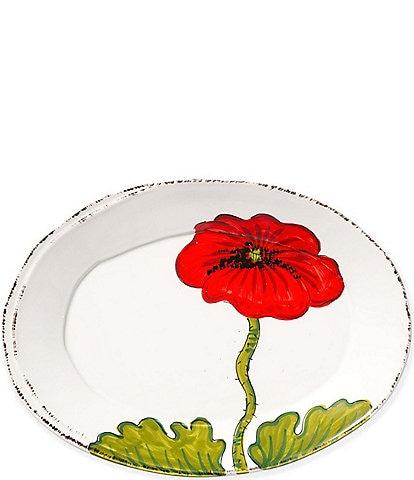 VIETRI Lastra Poppy Small Oval Platter