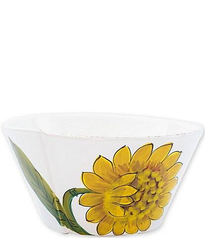 VIETRI Lastra Sunflower Medium Stacking Serving Bowl