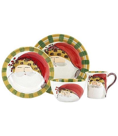 VIETRI Old St. Animal Hat 4-Piece Place Setting