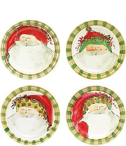 VIETRI Old St. Nick Assorted Dinner Plates - Set of 4