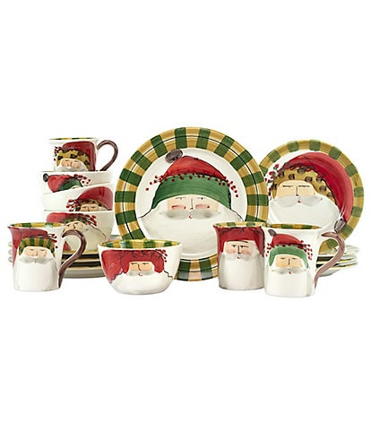 VIETRI Old St. Nick Assorted Sixteen-Piece Place Setting