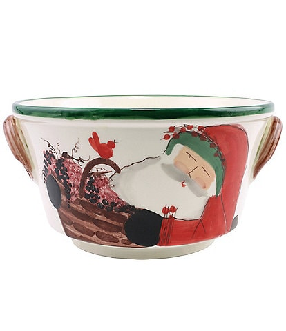 VIETRI Old St. Nick Celebration Bucket with Grapes