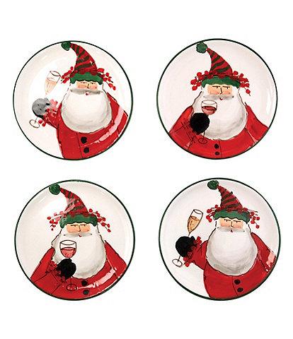VIETRI Old St. Nick Cocktail Plates - Set of 4