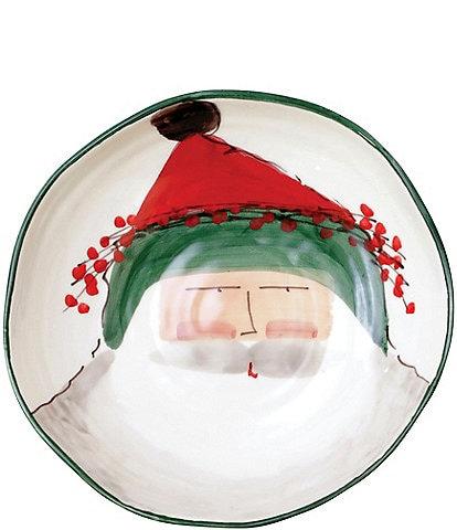 VIETRI Old St. Nick Pasta Bowl - Green Hat