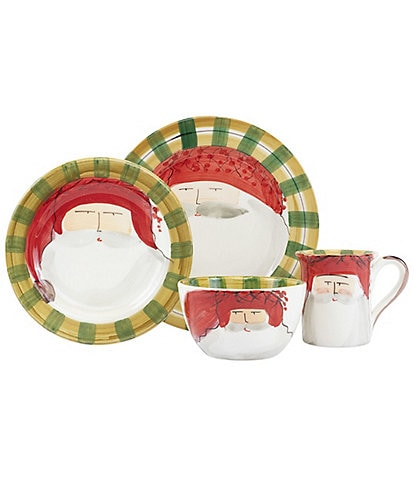 VIETRI Old St. Nick Red Hat 4-Piece Place Setting
