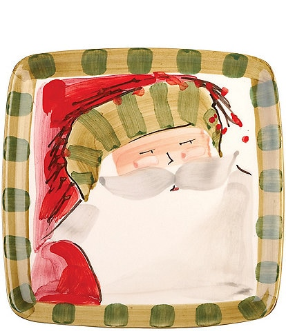 Vietri Old St. Nick Square Salad Plate